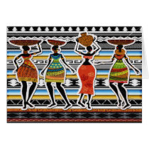 African Feast Card