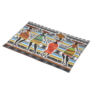 African Feast Cloth Placemat