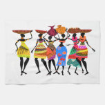 African Feast Kitchen Towels