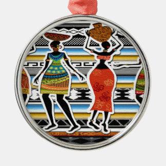 African Feast Metal Ornament