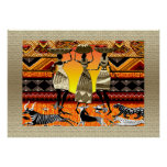 African Feast Print