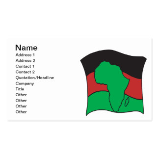 African Flag Business Card