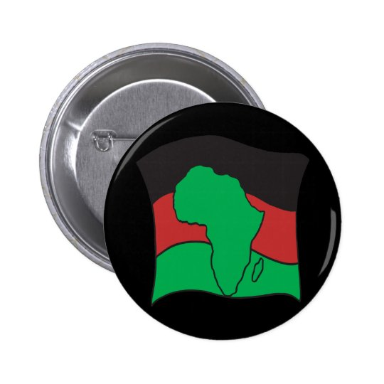 African Flag Pinback Button