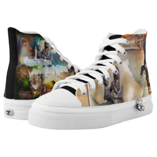 African flavour High-Top sneakers