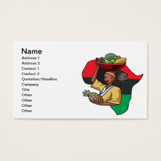 African Food Business Card