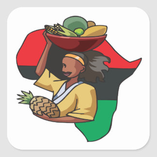 African Food Square Sticker