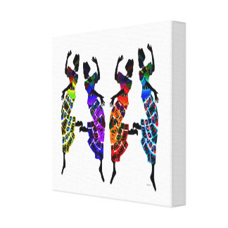 African Foot Dance Canvas Print