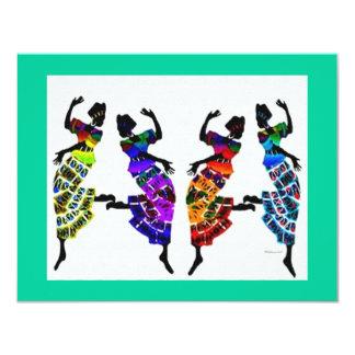 African Foot Dance Card