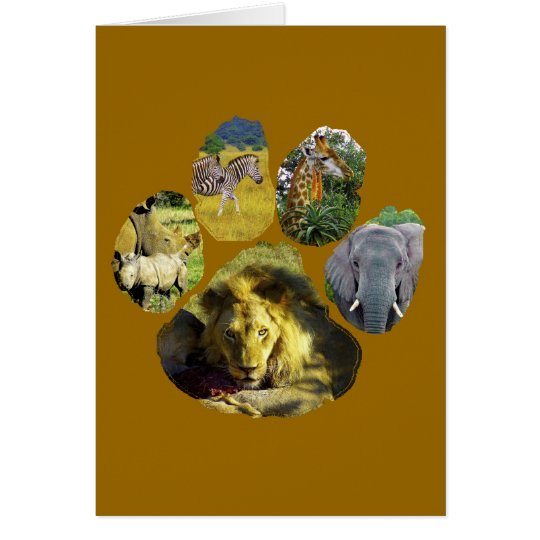 African Footprint Collage Card