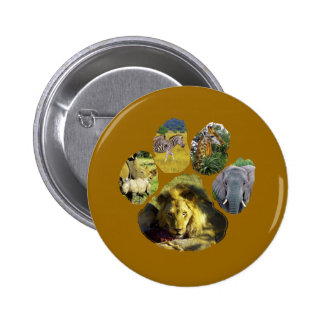 African Footprint Collage Pinback Button