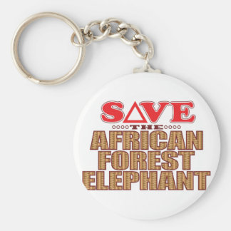 African For Elephant Save Keychain