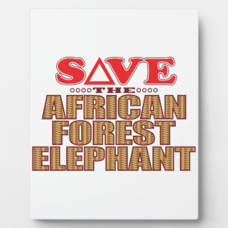 African For Elephant Save Plaque