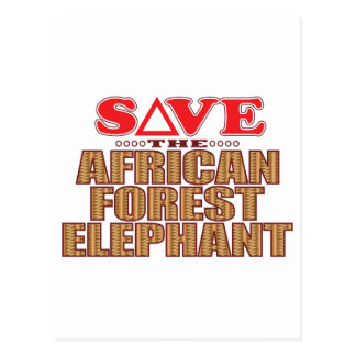 African For Elephant Save Postcard