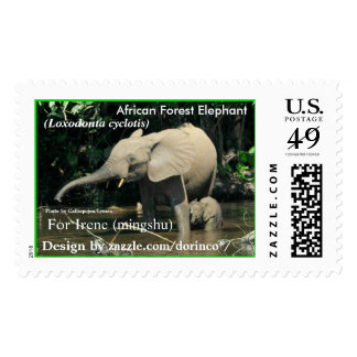African Forest Elephant (Loxodonta cyclotis) Postage