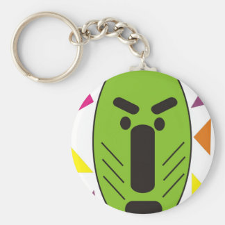 African Funky Mask Basic Round Button Keychain