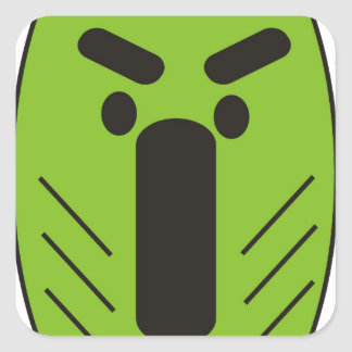 African Funky Mask Square Sticker