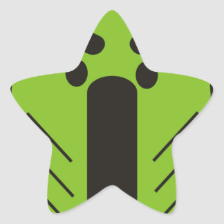 African Funky Mask Star Sticker