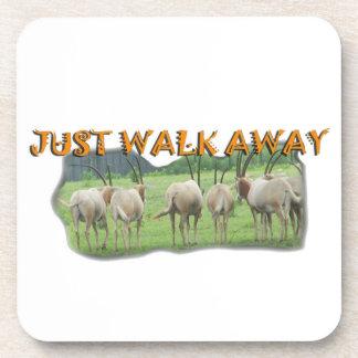 African Gazelles Just Walk Away Coaster