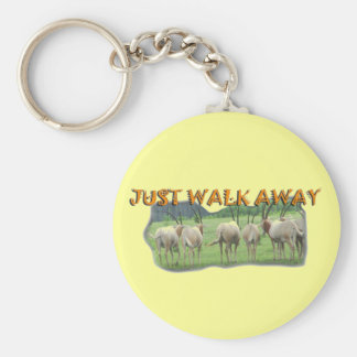 African Gazelles Just Walk Away Key Chain