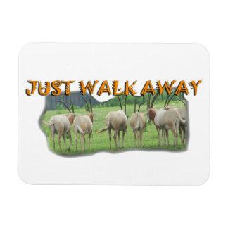 African Gazelles Just Walk Away Magnet