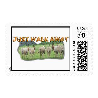 African Gazelles Just Walk Away Postage