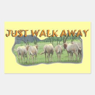 African Gazelles Just Walk Away Rectangular Sticker