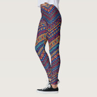 African Geometric Pattern Leggings
