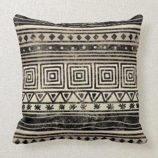 African Geometric Pattern Throw Pillow