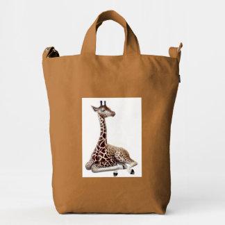 African Giraffe at Rest Baggu Duck Bag