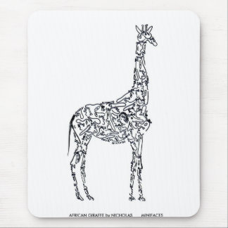 AFRICAN GIRAFFE by NICHOLAS Mouse Pad