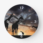 African giraffe clocks