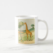 African Giraffe Eating Acacia Leaves Coffee Mug