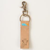 African Giraffe Keychain