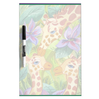African Giraffe Kisses (Kimberly Turnbull Art) Dry-Erase Board