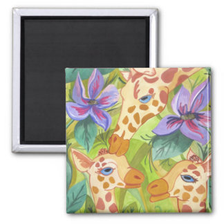 African Giraffe Kisses (Kimberly Turnbull Art) Magnet
