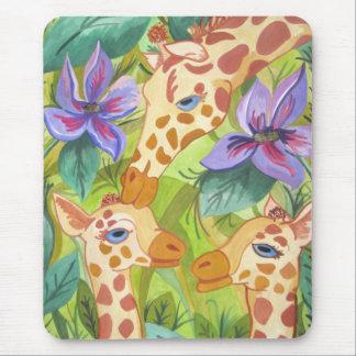 African Giraffe Kisses (Kimberly Turnbull Art) Mouse Pad