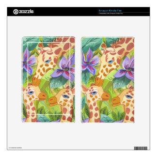 African Giraffe Kisses (Kimberly Turnbull Art) Skin For Kindle Fire