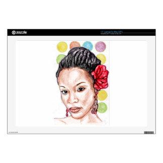 """African Girl 17"""" Laptop Skins"""