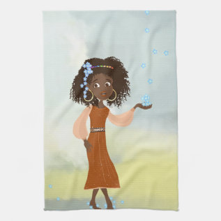 African Girl American Mojo Kitchen Towels at Zazzle
