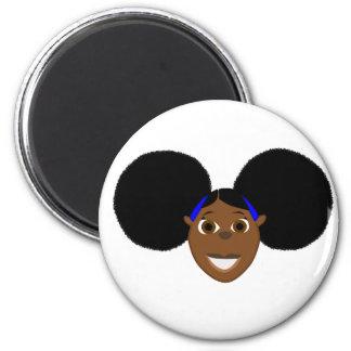 African Girl Cartoon Character Fino! Magnet