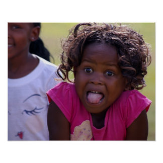African Girl Funny Face Poster