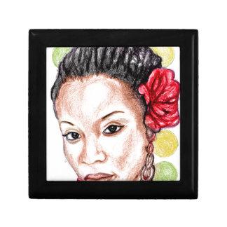 African Girl Jewelry Box