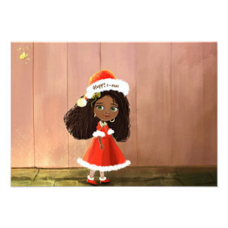 African Girl Mindy- happy x-mas invitation