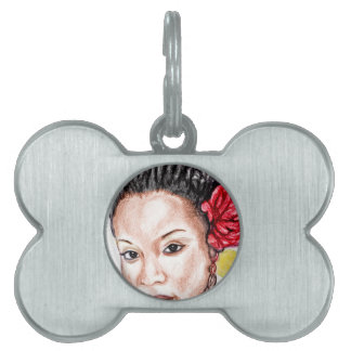 African Girl Pet Tag