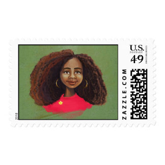 African girl Postage