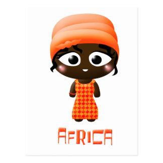 African Girl Postcard