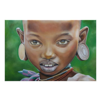 African Girl Poster