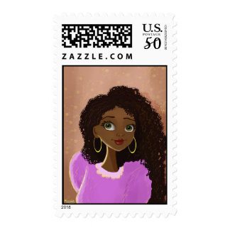 African girl stamp