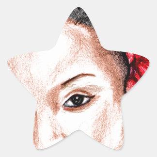 African Girl Star Sticker