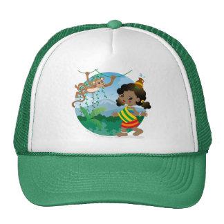 African girl trucker hat
